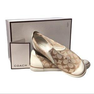 Coach Signature Slip-On Tennis Shoes NWT